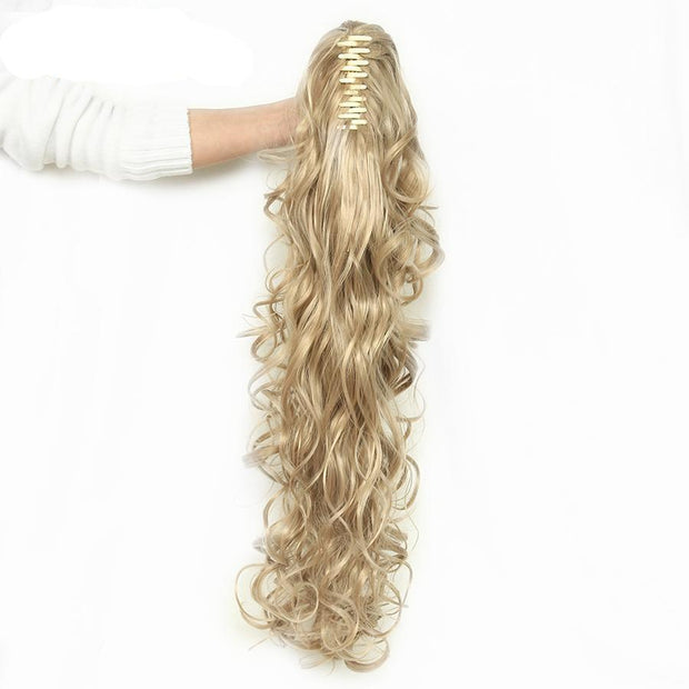 Ponytail Wavy Claw Fake Hair Extensions 32 inch