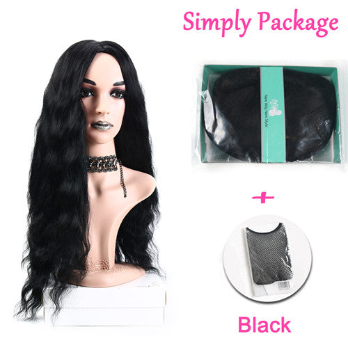 Suri Hair long wig Natural wave cosplay synthetic hair wigs for women Afro black middle part hair hallowen 24inches