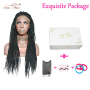 Suri Hair Micro Box Braids Lace Front Black Synthetic Women Wig Heat Resistant Wig For African American 30inch