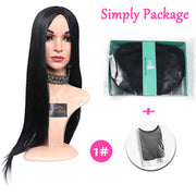 Suri Hair Black Straight Long Middle Part Wig Women Synthetic Wigs Heat Resistant 30 inch