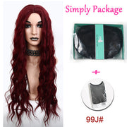 Suri Hair long water wave Black 99j# pure color synthetic wigs cosplay hair for women Heat Resistant Full Hair Wigs Costume