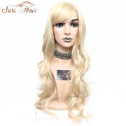 Suri Hair Natural Blonde Cosplay Wig Long Wavy Heat Resistant African American Synthetic Wig For Women 30 inch