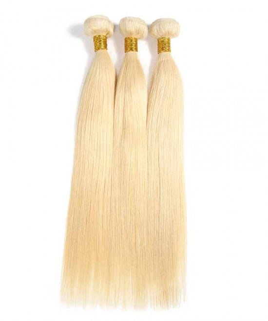 613 Blonde Straight Virgin Hair Extensions (3 Bundles)