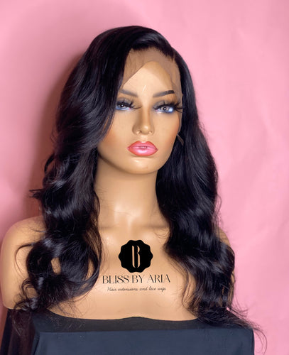 Beginner Body Wave Lace Frontal Wig 130% Density  (Pre-Made)