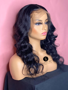 Body Wave 13x6 Lace Frontal Wig 180% Density  (Pre-Made)