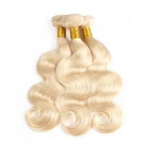 613 Blonde Body Wave Virgin Hair Extensions (3 Bundles)