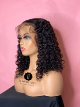 Ready-to- Ship 13x6 Natural Curly Lace Frontal Bob Wig 200% Density  (Pre-Made)