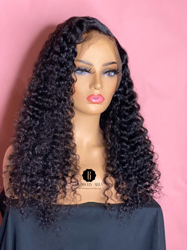 *NEW!* 13x6 Natural Curly Lace Frontal Wig 200% Density  (Pre-Made)