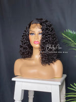 "Load image into Gallery viewer, * NEW* BELLA - 14"" Deep Wave lace Closure Bob Wig (Custom-Made)"