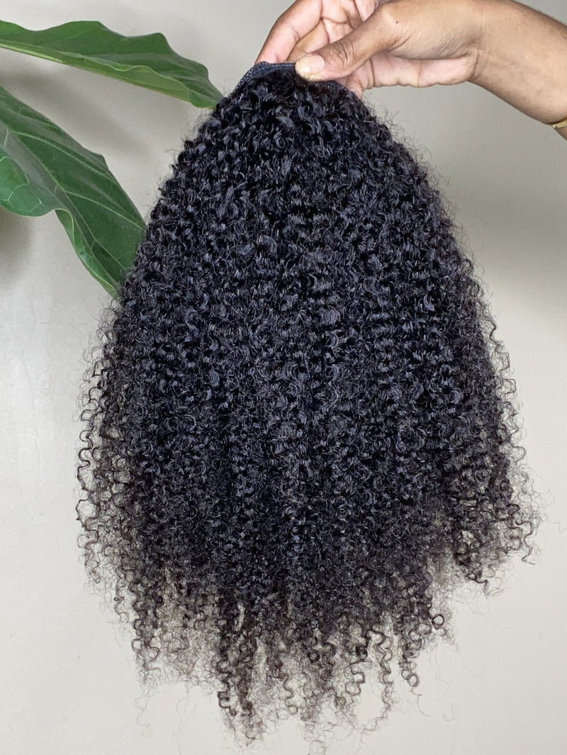 3C/4A Kinky Curly Drawstring Ponytail