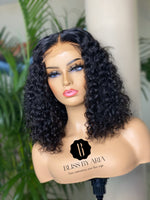 "Load image into Gallery viewer, * NEW* GISELLE - 14"" Deep Wave lace Closure Bob Wig (Custom-Made)"