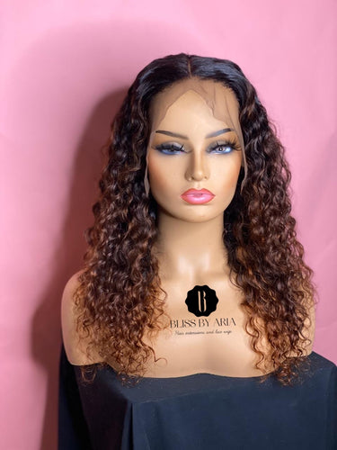 NAOMI -Ombred Deep Wave Lace Frontal Wig (Custom-Made)