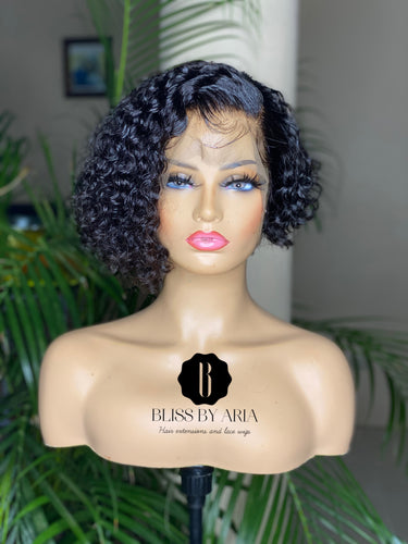 * NEW* KIKA - Deep Wave lace Frontal Pixie cut Bob Wig (Custom-Made)