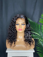 "Load image into Gallery viewer, 14"" Deep Curly Lace Frontal Pre-Made Wig 180% density"