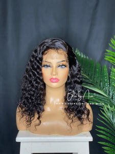 "14"" Deep Curly Lace Frontal Pre-Made Wig 180% density"