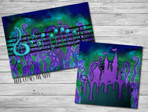Poor Unfortunate Souls Music/Quote & Ursula Takeover Castles - Fine Art Prints