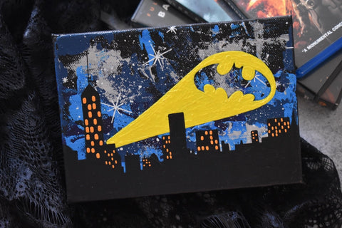 "Bat City - 5"" x 7"" Original Painting"