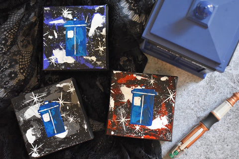 "Police Box - 4"" Original Painting"