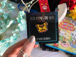 *Collectible* *MINI* Tiger Butterfly - Enamel Pin