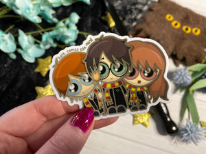 Golden Trio - Vinyl Sticker (FREEEEE Shipping!)