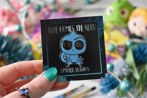 *Limited Edition* Ghost Chameleon - Enamel Pin
