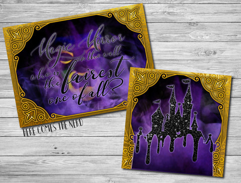 Magic Mirror on the Wall & Evil Queen Takeover Castle - Fine Art Prints