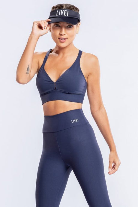 Essential Racer Top - Navy