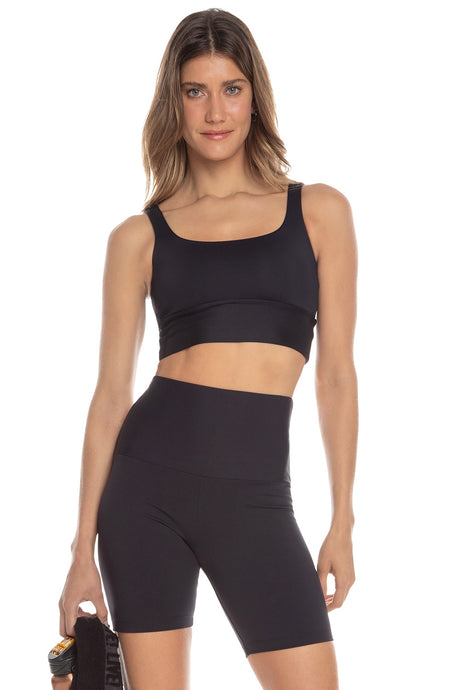Wellness Cropped Top  Black