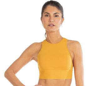 Halter Prospect Cropped Top Mango