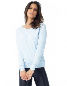 Powder Blue Dry Fit Long Sleeve Top