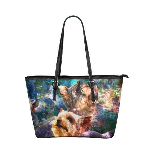 Yorkshire Terrier Leather Tote Bag
