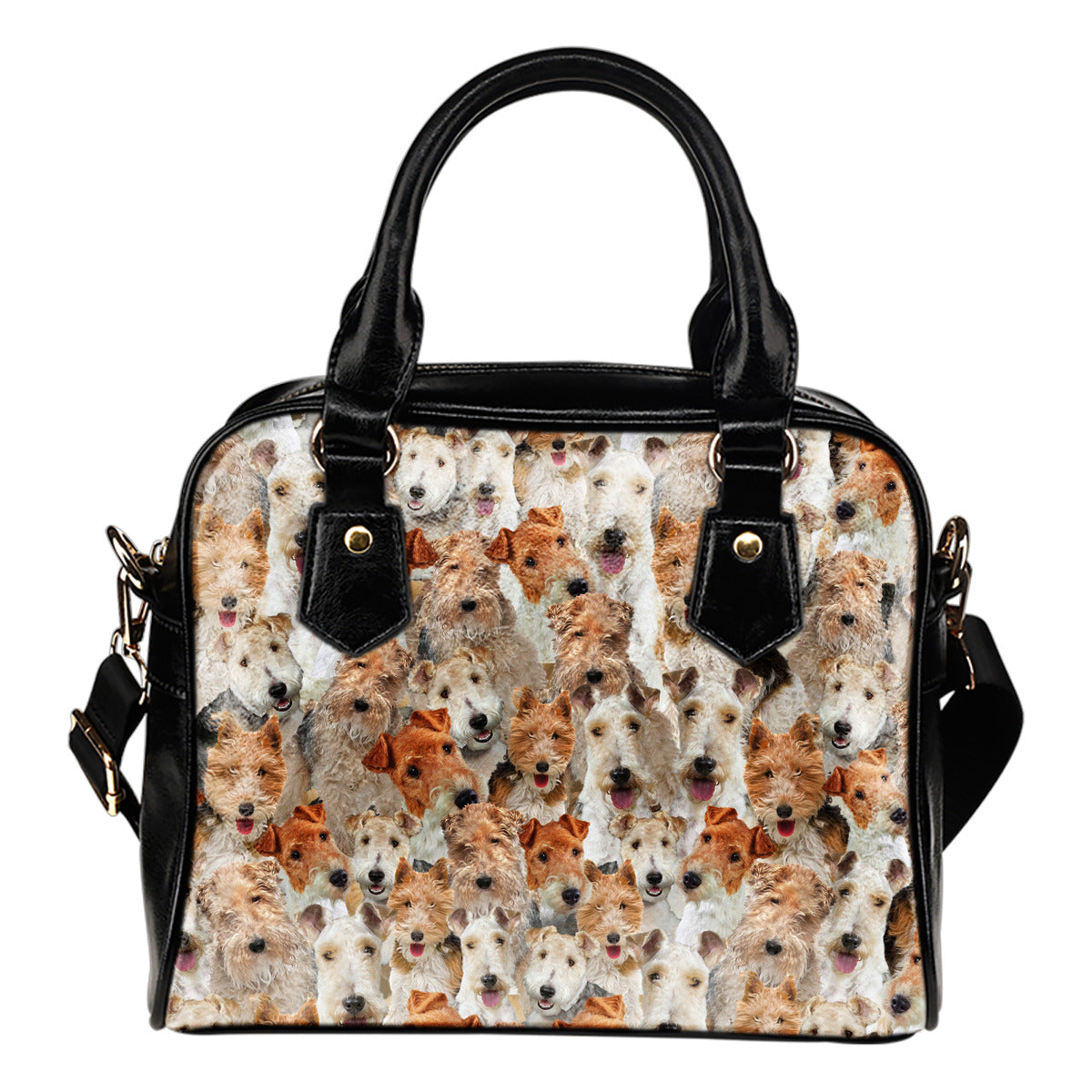 Fox Terrier Full Face Shoulder Handbag