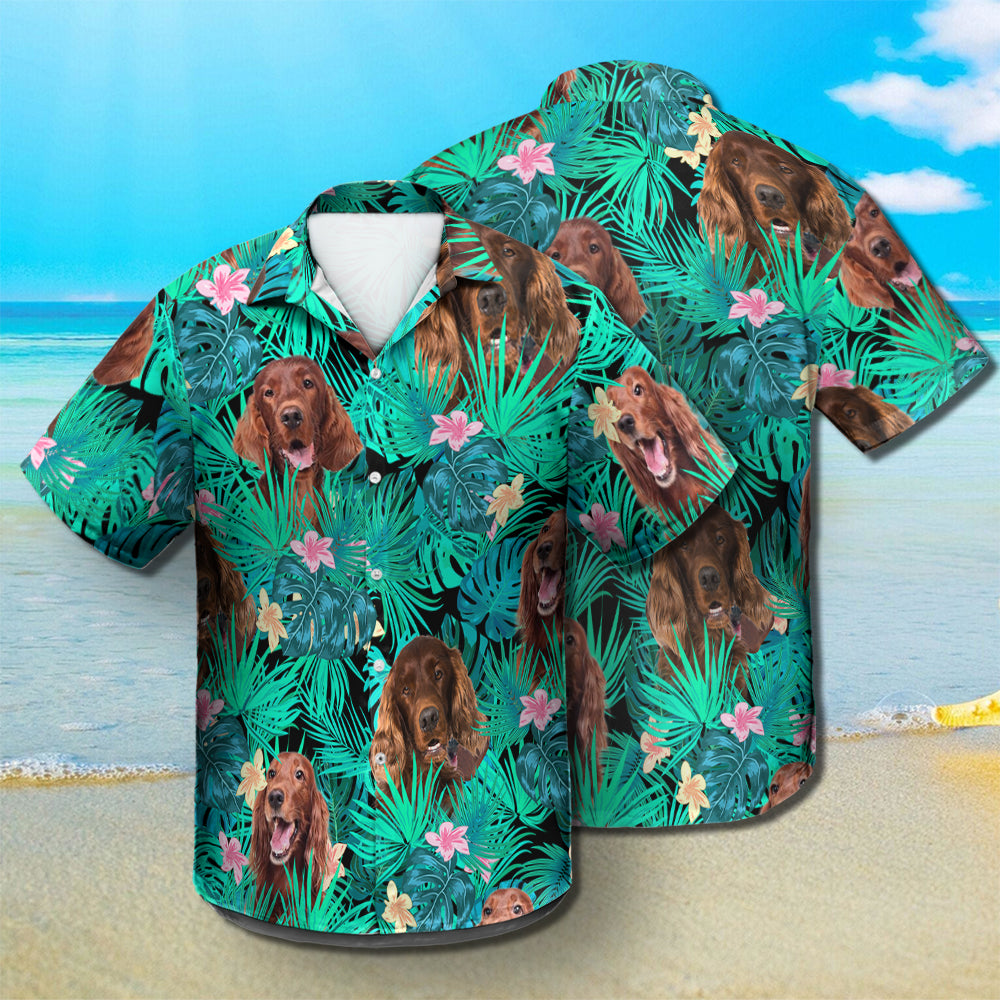Irish Setter - Summer Leaves - Hawaiian Shirt