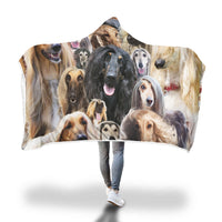 Afghan Hound Hooded Blanket