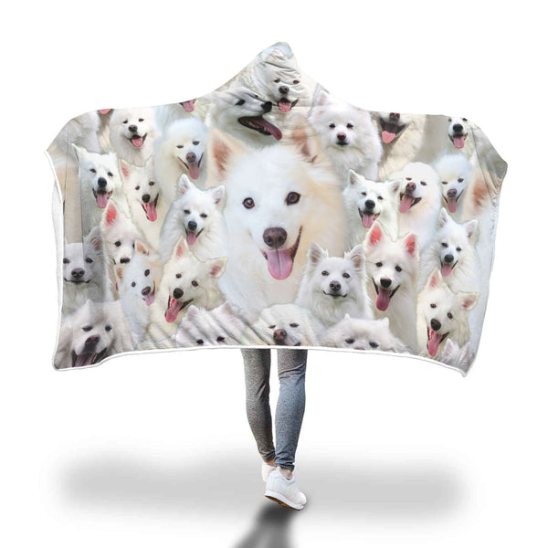 American Eskimo Dog Hooded Blanket