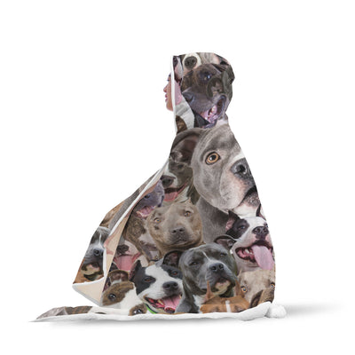 American Staffordshire Terrier Hooded Blanket