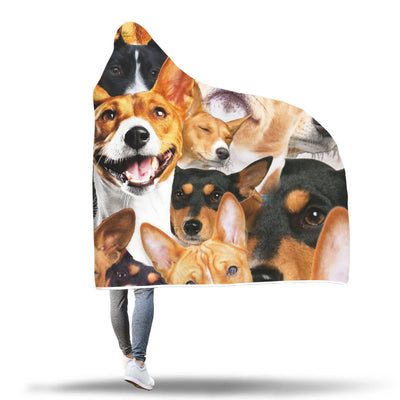 Basenji Hooded Blanket