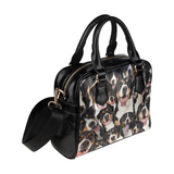 Greater Swiss Mountain Face Shoulder Handbag