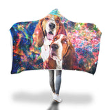 Basset Hound Hooded Blanket