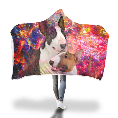 Bull Terrier Hooded Blanket