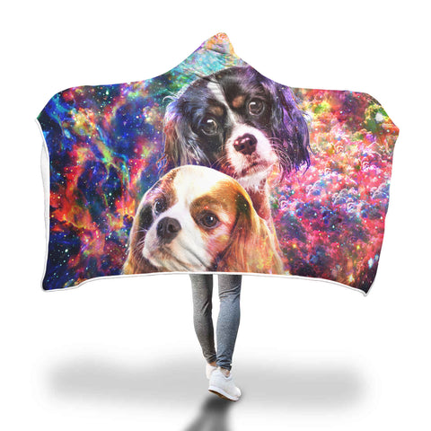 Cavalier King Charles Spaniel Hooded Blanket