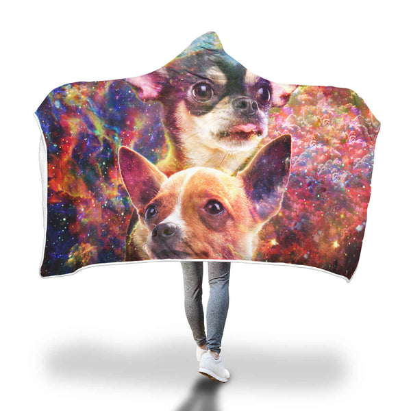 Chihuahua Hooded Blanket