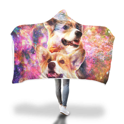 Pembroke Welsh Corgi Hooded Blanket