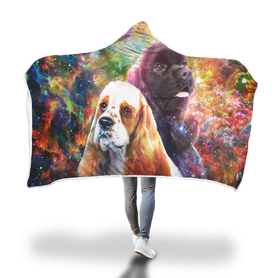 American Cocker Spaniel Hooded Blanket