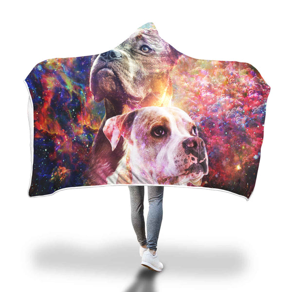 American Pit Bull Terrier Hooded Blanket