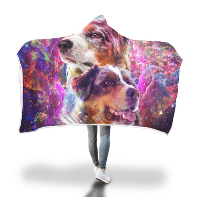 Australian Shepherd Hooded Blanket