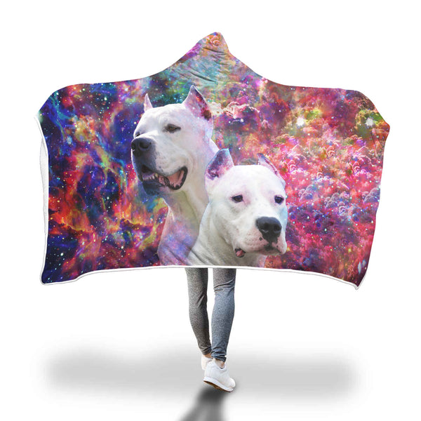 Dogo Argentino Hooded Blanket