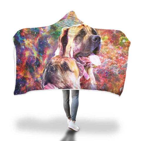 English Mastiff Hooded Blanket