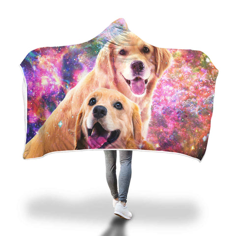 Golden Retriever Hooded Blanket