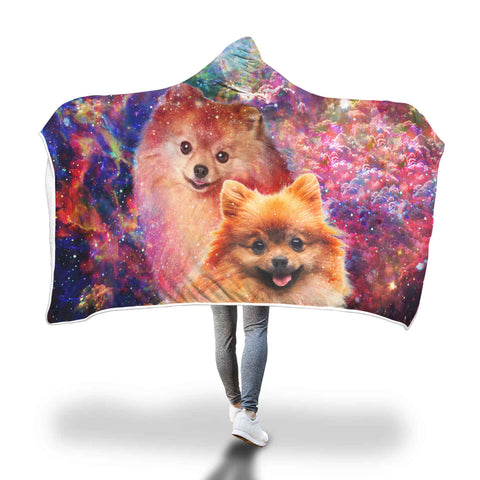 Pomeranian Hooded Blanket